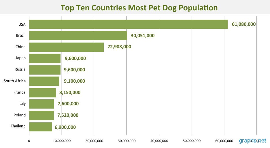 Top Ten Dog Populations